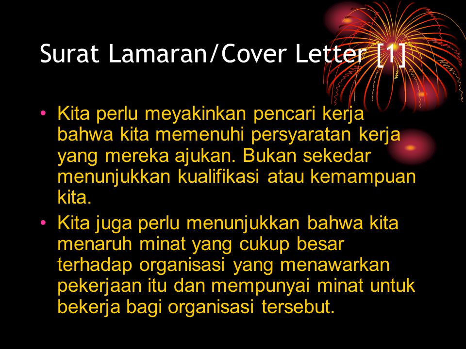 Surat Lamaran/Cover Letter [1]